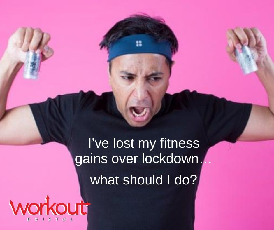 I've lost my fitness gains over lockdown…what should I do?